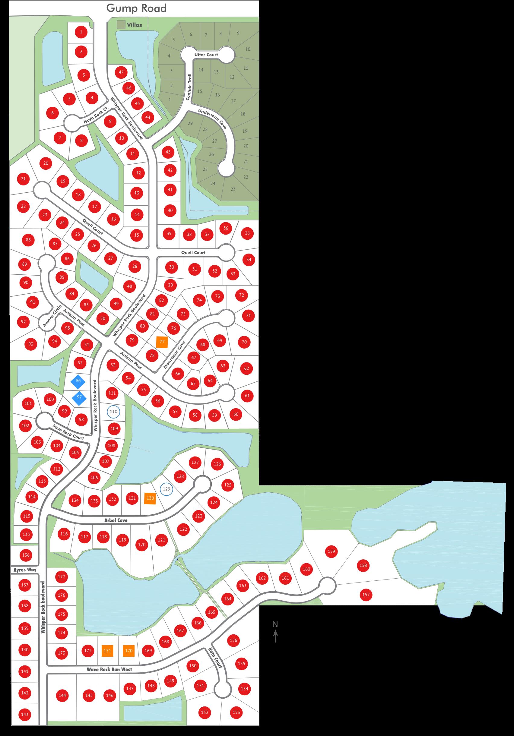 Whisper Rock Map