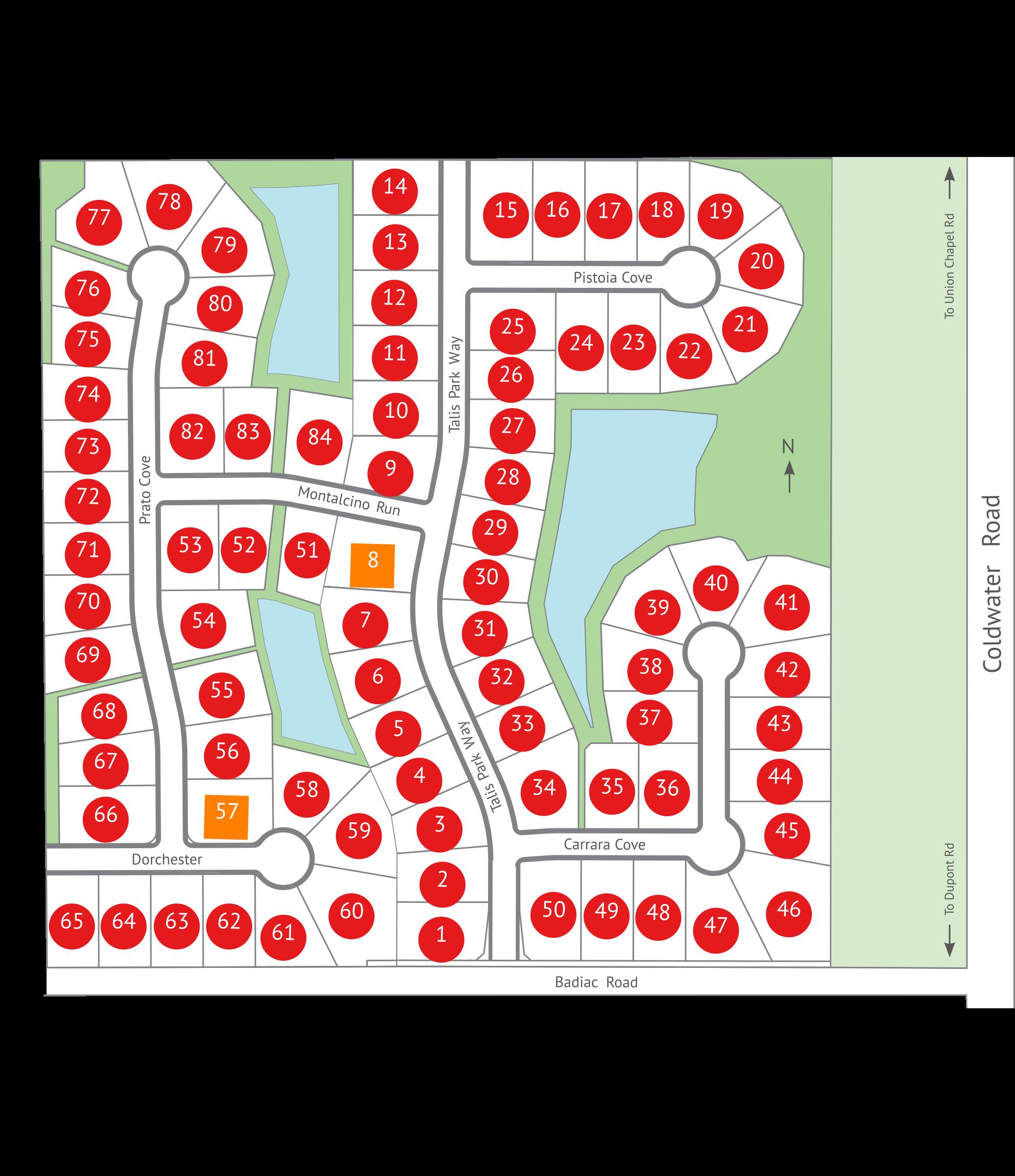 Talis Park Map