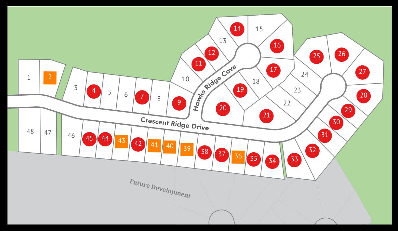 Coves At Hawk Ridge Map