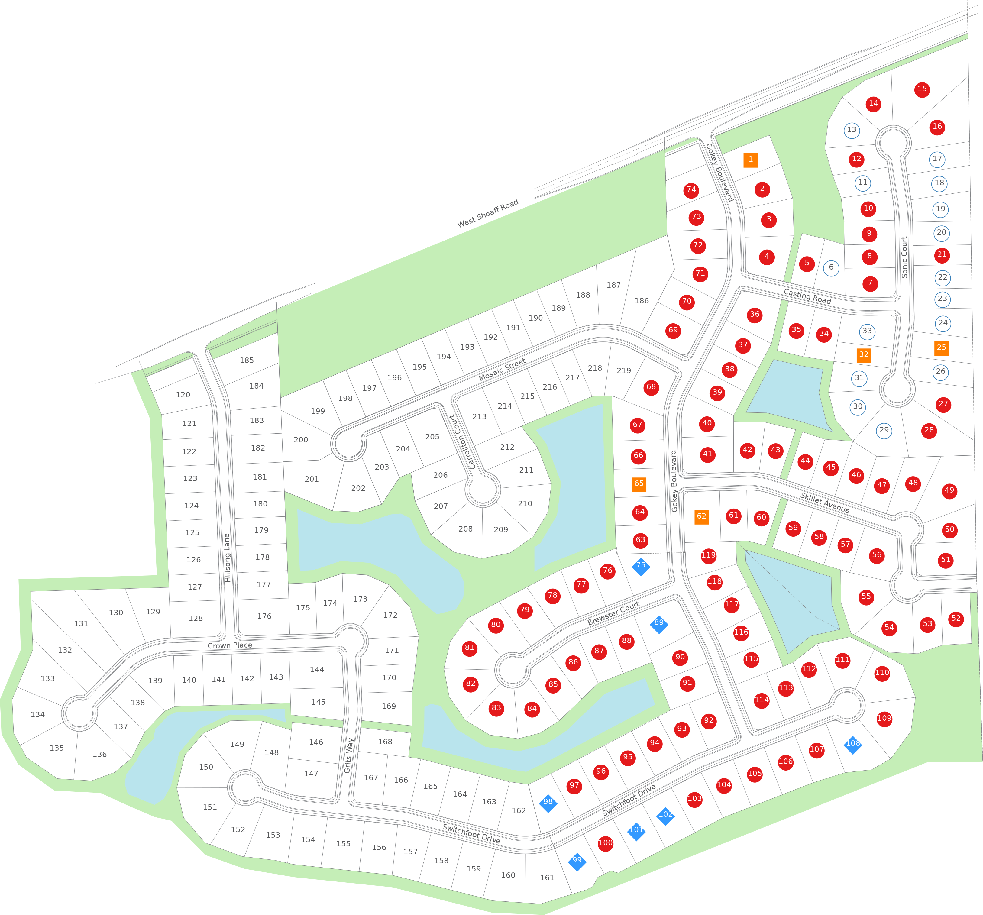 Rolling Oaks Map